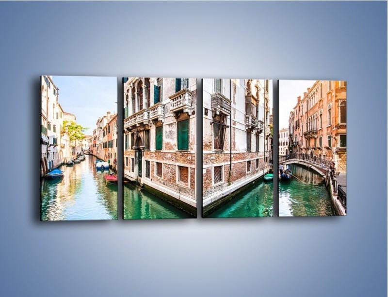 Obraz na płótnie – Skrzyżowanie wodne w Wenecji – czteroczęściowy AM081W1