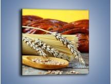 Obraz na płótnie – Chleb pszenno-kukurydziany – jednoczęściowy kwadratowy JN090