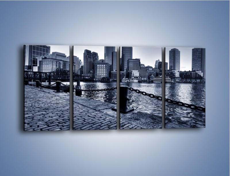 Obraz na płótnie – Wybrukowana wybrzeże miasta – czteroczęściowy AM132W1