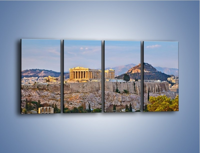 Obraz na płótnie – Ateńskie ruiny – czteroczęściowy AM162W1