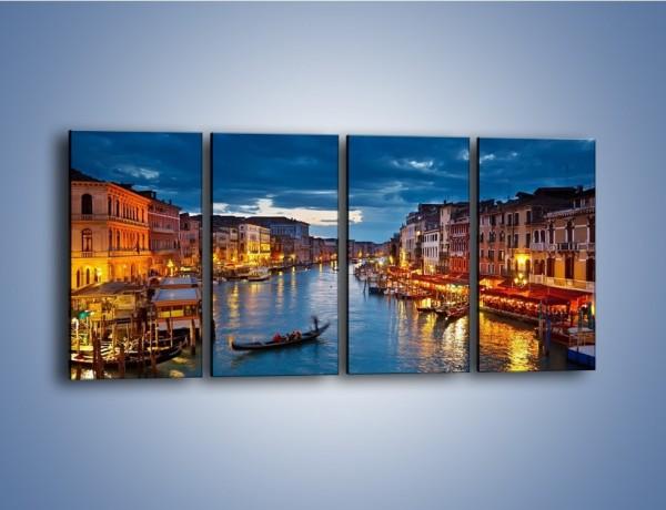 Obraz na płótnie – Wenecja romantyczną porą – czteroczęściowy AM163W1