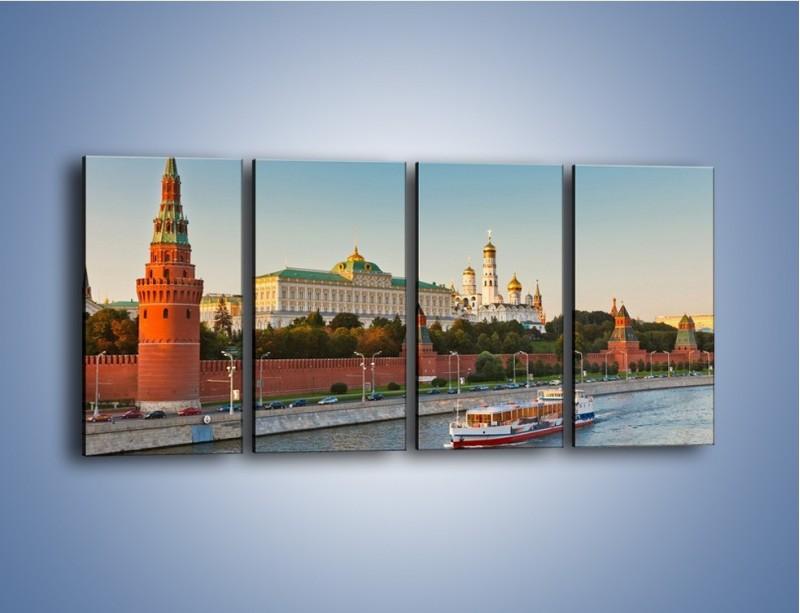 Obraz na płótnie – Kreml w środku lata – czteroczęściowy AM164W1