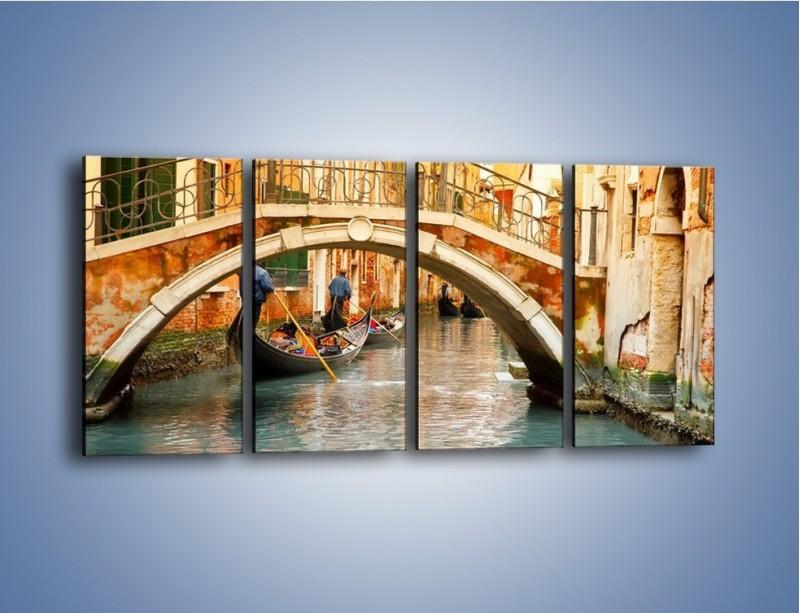Obraz na płótnie – Weneckie gondole – czteroczęściowy AM172W1