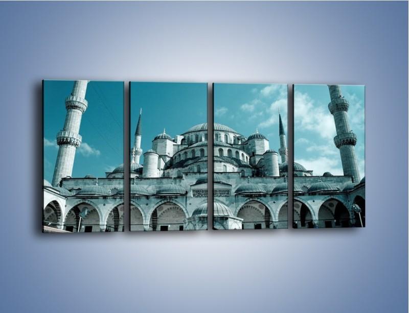 Obraz na płótnie – Taj Mahal – czteroczęściowy AM175W1