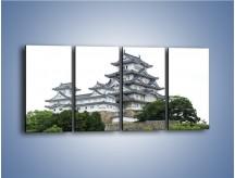 Obraz na płótnie – Azjatycka architektura – czteroczęściowy AM181W1