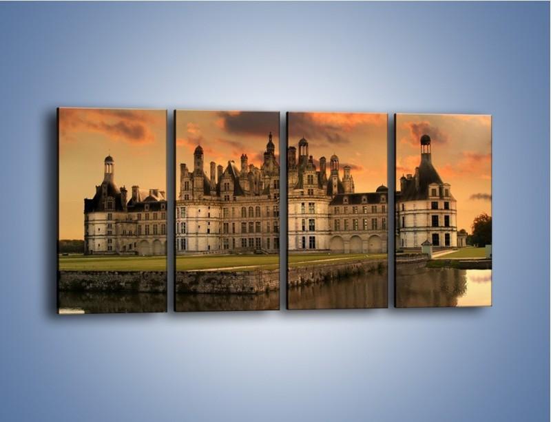 Obraz na płótnie – Stary zamek – czteroczęściowy AM200W1