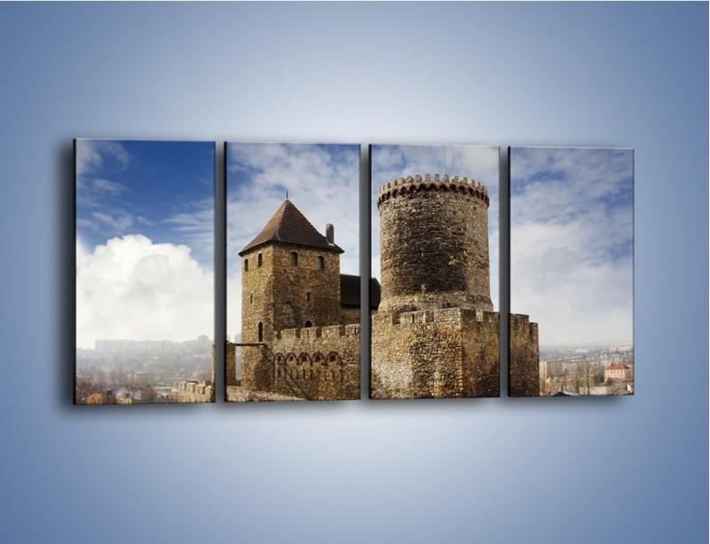 Obraz na płótnie – Średniowieczna fortyfikacja – czteroczęściowy AM201W1