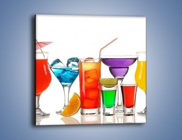 Obraz na płótnie – Wakacyjne party z alkoholem – jednoczęściowy kwadratowy JN092