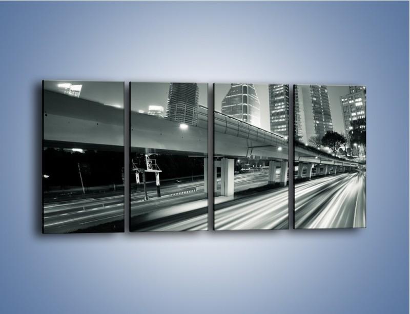 Obraz na płótnie – Miasto w odcieniach szarości – czteroczęściowy AM205W1