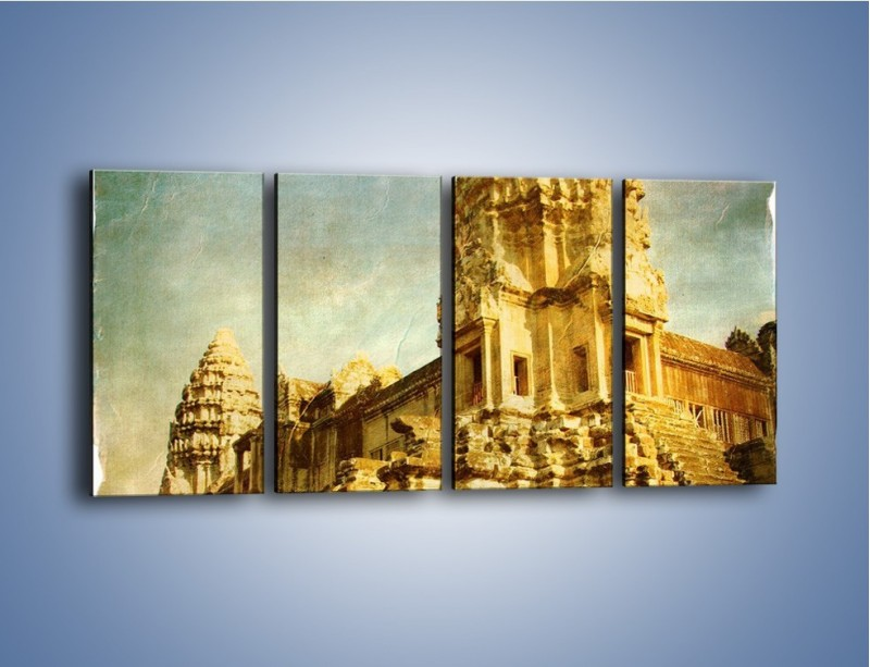 Obraz na płótnie – Starożytna architektura w stylu vintage – czteroczęściowy AM246W1