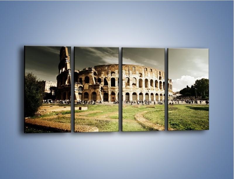 Obraz na płótnie – Koloseum przed burzą – czteroczęściowy AM271W1