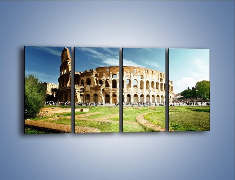 Obraz na płótnie – Koloseum w piękny dzień – czteroczęściowy AM273W1