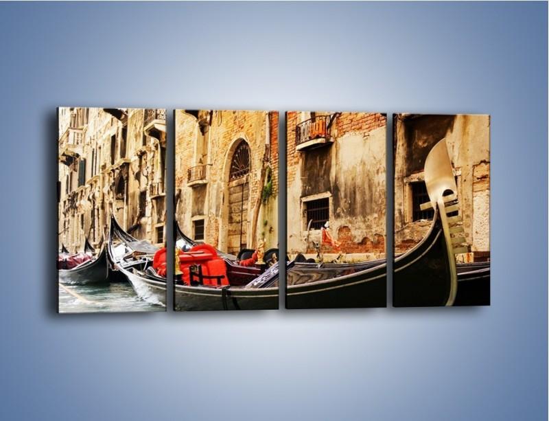 Obraz na płótnie – Wenecka gondola – czteroczęściowy AM286W1