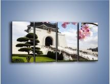 Obraz na płótnie – Azjatycka architektura – czteroczęściowy AM299W1