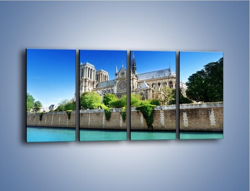 Obraz na płótnie – Katedra Notre-Dame – czteroczęściowy AM305W1