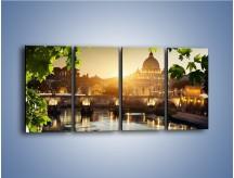 Obraz na płótnie – Bazylika w Rzymie o zachodzie słońca – czteroczęściowy AM306W1