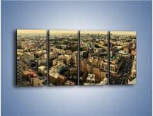 Obraz na płótnie – Panorama Kijowa – czteroczęściowy AM326W1