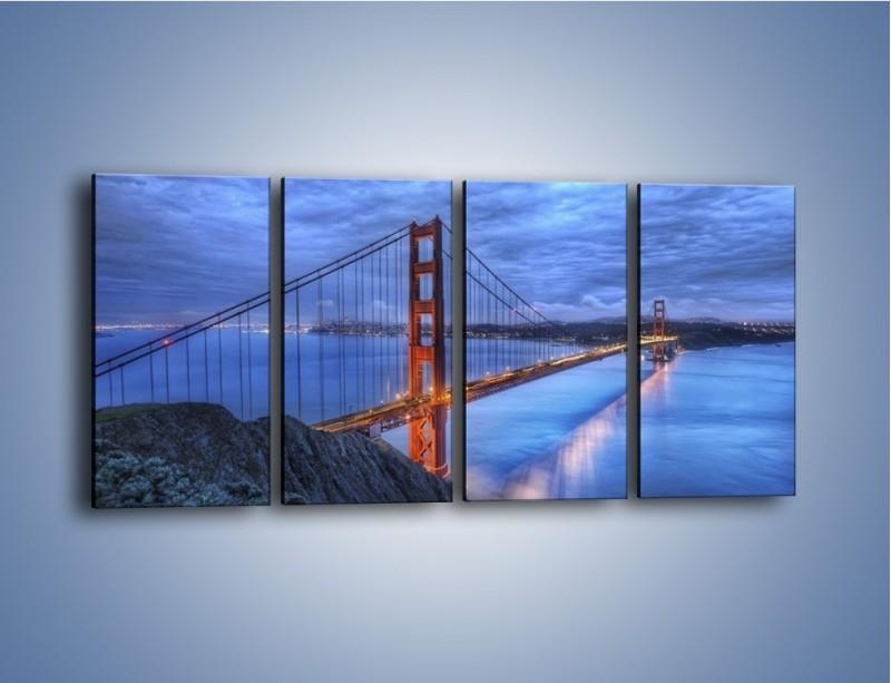 Obraz na płótnie – Most Golden Gate – czteroczęściowy AM328W1