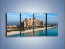 Obraz na płótnie – Atlantis Hotel w Dubaju – czteroczęściowy AM341W1
