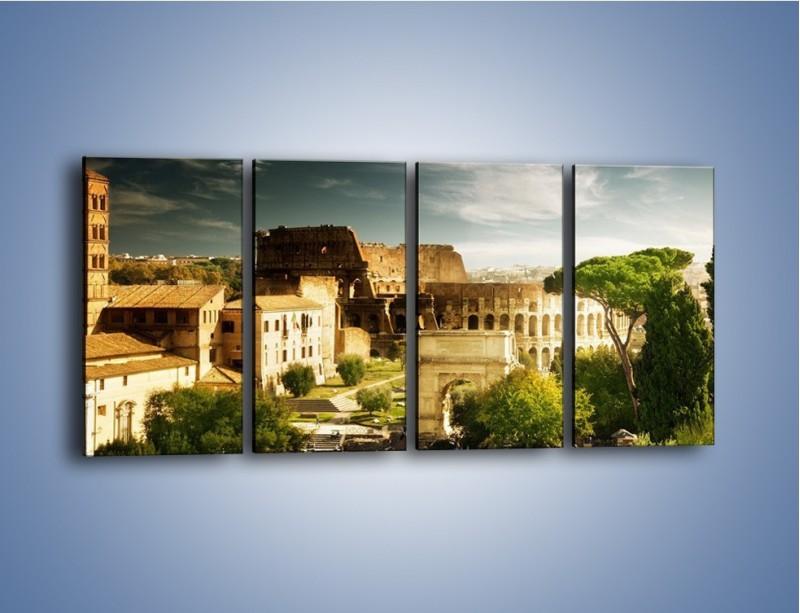 Obraz na płótnie – Ruiny starożytnego Rzymu – czteroczęściowy AM357W1