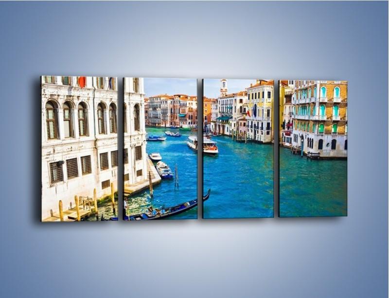 Obraz na płótnie – Kolorowy świat Wenecji – czteroczęściowy AM362W1