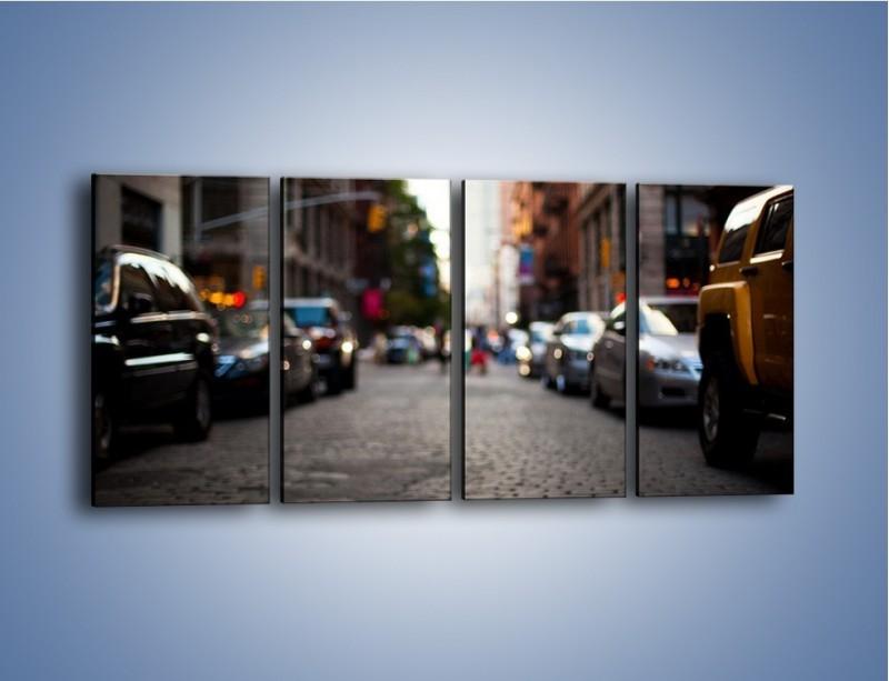 Obraz na płótnie – Rozmyty świat centrum miasta – czteroczęściowy AM367W1