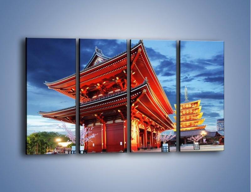 Obraz na płótnie – Świątynia Senso-ji w Tokyo – czteroczęściowy AM378W1