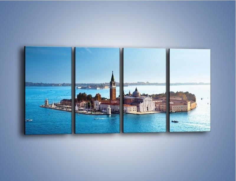 Obraz na płótnie – Wyspa San Giorgio Maggiore – czteroczęściowy AM380W1