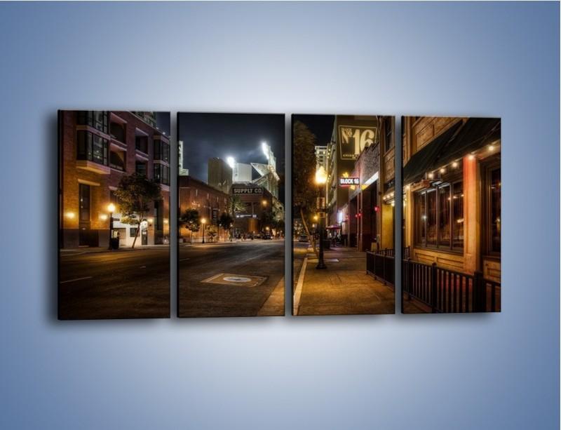 Obraz na płótnie – Ulica San Diego w Kaliforni – czteroczęściowy AM390W1