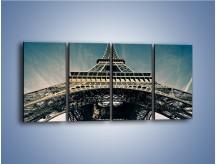 Obraz na płótnie – Wieża Eiffla – czteroczęściowy AM401W1