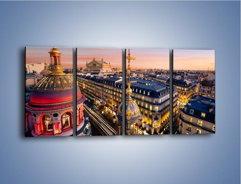 Obraz na płótnie – Paryska architektura – czteroczęściowy AM402W1