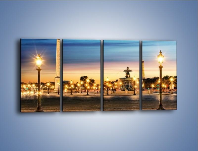 Obraz na płótnie – Place de la Concorde w Paryżu – czteroczęściowy AM404W1