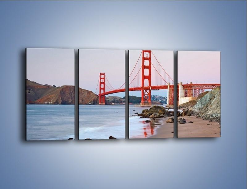 Obraz na płótnie – Most Golden Gate – czteroczęściowy AM406W1