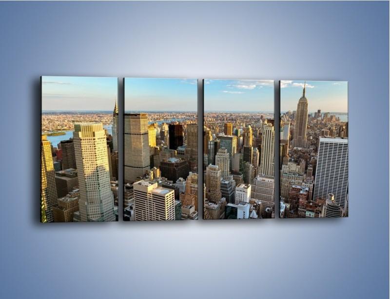 Obraz na płótnie – Manhattan w Nowym Yorku – czteroczęściowy AM412W1