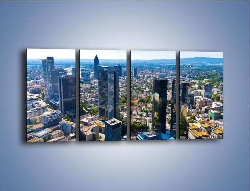 Obraz na płótnie – Panorama Frankfurtu – czteroczęściowy AM414W1