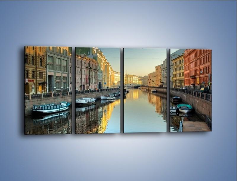 Obraz na płótnie – Kanał wodny w St. Petersburgu – czteroczęściowy AM422W1
