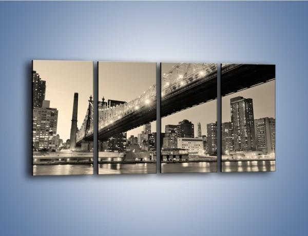 Obraz na płótnie – Most Qeensboro w Nowym Yorku – czteroczęściowy AM438W1