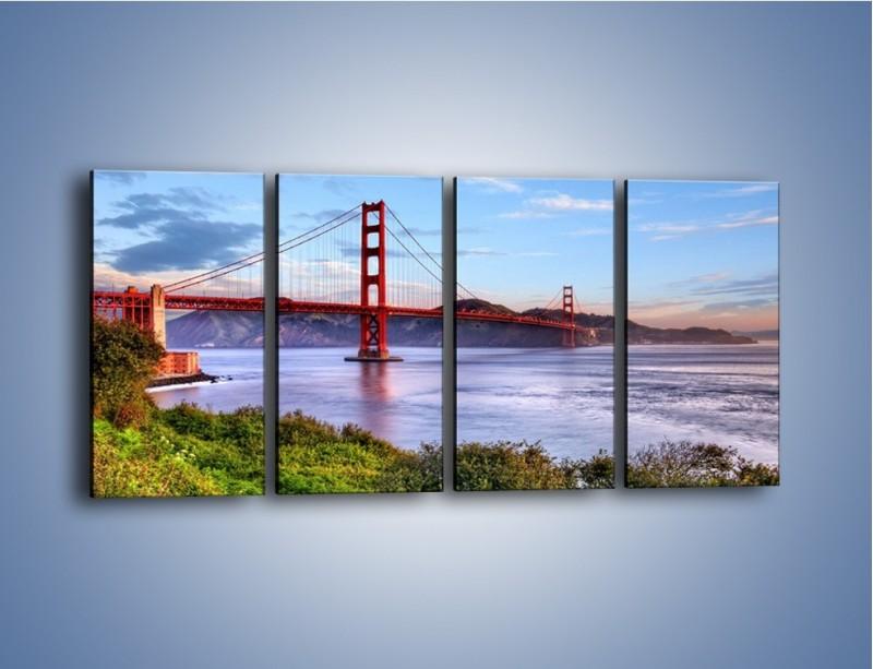 Obraz na płótnie – Most Golden Gate w San Francisco – czteroczęściowy AM444W1