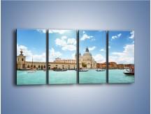 Obraz na płótnie – Canal Grande w Wenecji – czteroczęściowy AM449W1