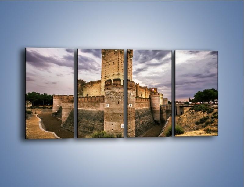 Obraz na płótnie – Zamek La Mota w Hiszpanii – czteroczęściowy AM457W1