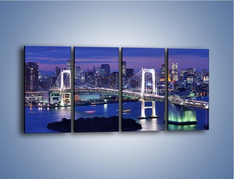 Obraz na płótnie – Tęczowy Most w Tokyo – czteroczęściowy AM460W1