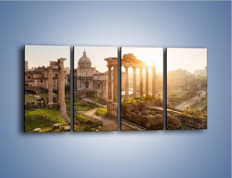 Obraz na płótnie – Rzymskie ruiny o zachodzie słońca – czteroczęściowy AM480W1