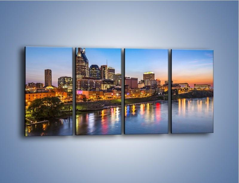 Obraz na płótnie – Nashville nad rzeką Cumberland – czteroczęściowy AM491W1