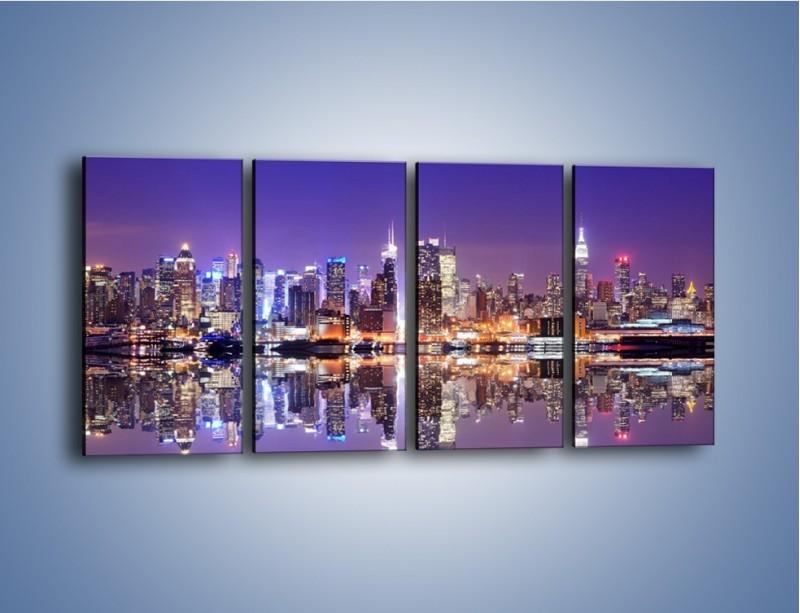 Obraz na płótnie – Panorama Midtown Manhattan – czteroczęściowy AM492W1