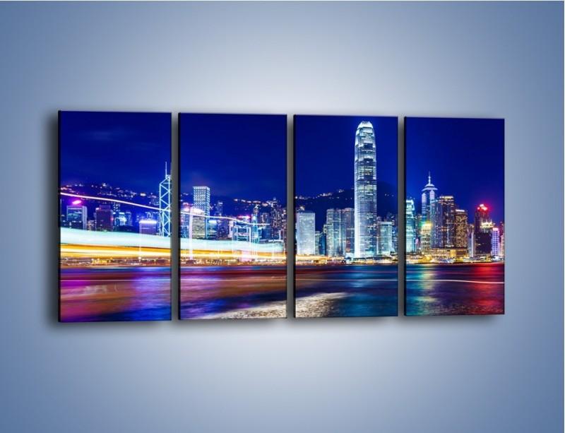 Obraz na płótnie – Panorama Hong Kongu – czteroczęściowy AM499W1
