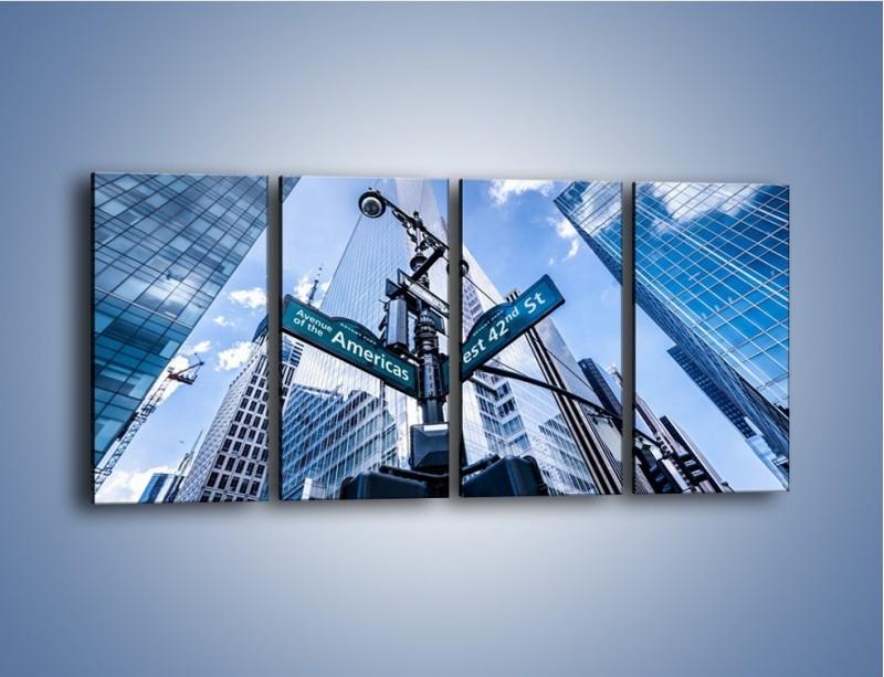 Obraz na płótnie – Skrzyżowanie ulic w Nowym Jorku – czteroczęściowy AM501W1