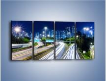 Obraz na płótnie – Autostrada prowadząca do Hong Kongu – czteroczęściowy AM504W1