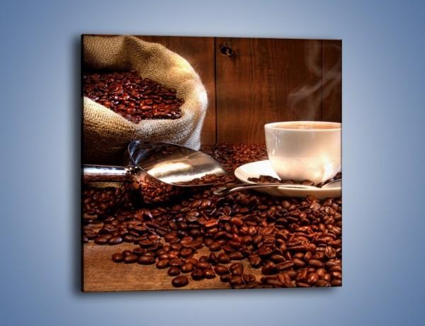 Obraz na płótnie – Poranna energia z kawą – jednoczęściowy kwadratowy JN098