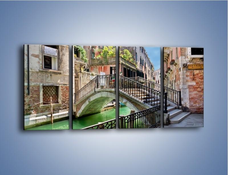Obraz na płótnie – Wenecki most – czteroczęściowy AM523W1