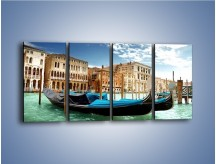 Obraz na płótnie – Weneckie gondole w Canal Grande – czteroczęściowy AM571W1